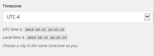 wordpress daylight savings time with UTC offsets