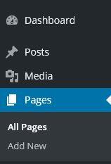WordPress Pages Menu