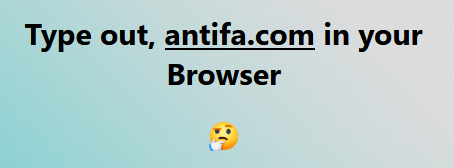 Antifa Redirects to Joe Biden