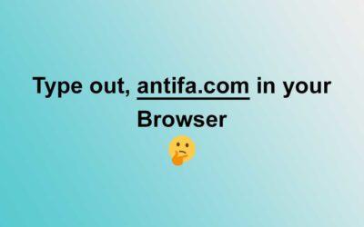 Antifa Redirects to Joe Biden